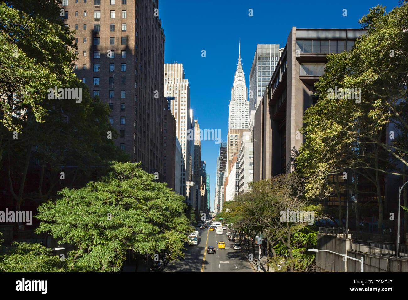 42. STRAßE MIDTOWN MANHATTAN NEW YORK CITY USA Stockbild