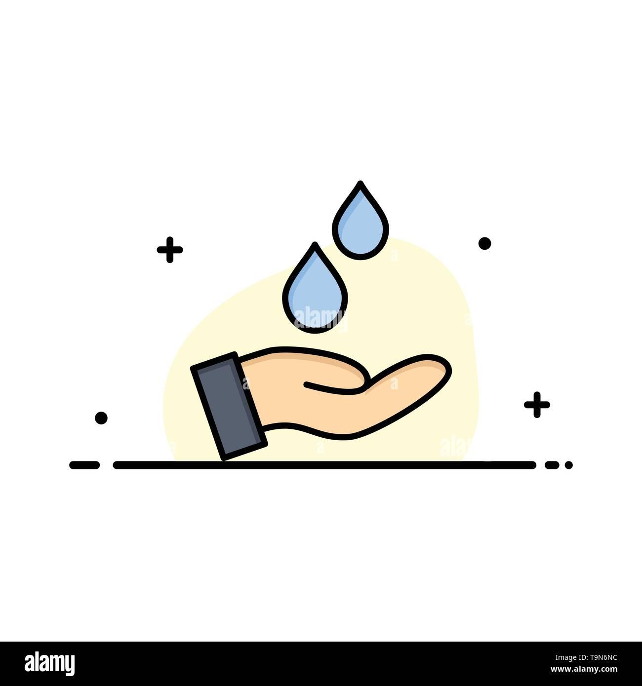 Gereinigtes, Wasser, Energie, Power Business Flat Line gefüllt Symbol Vektor Banner Vorlage Stockbild
