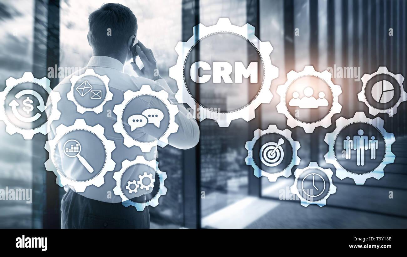Business Kunden CRM-Management Analyse Service Konzept. Relationship Management Stockfoto