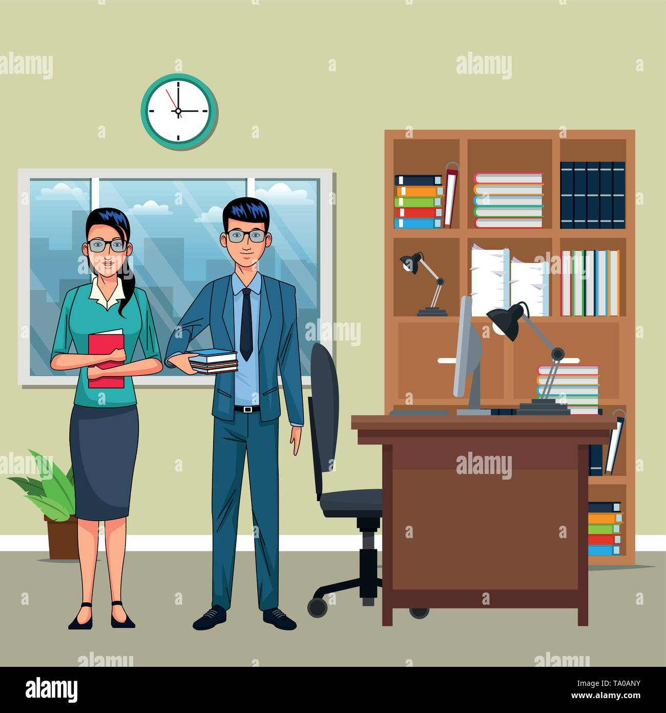 Business paar Avatar Stockbild