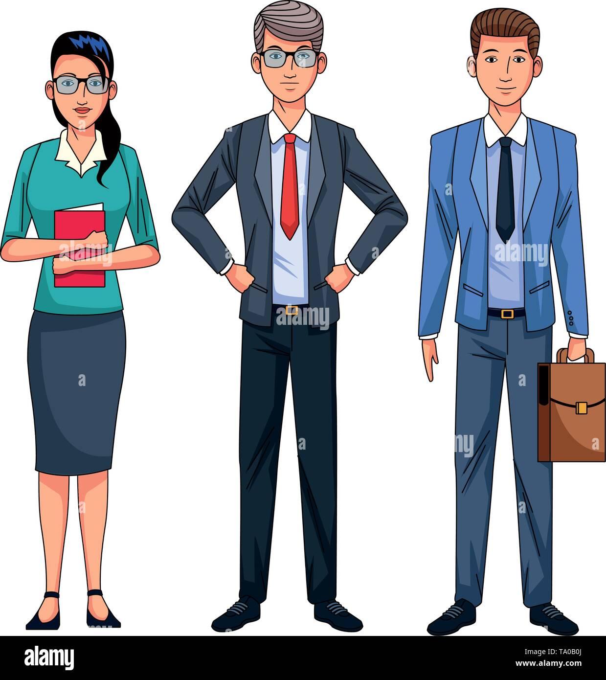 Geschäftsleute avatar Stockbild