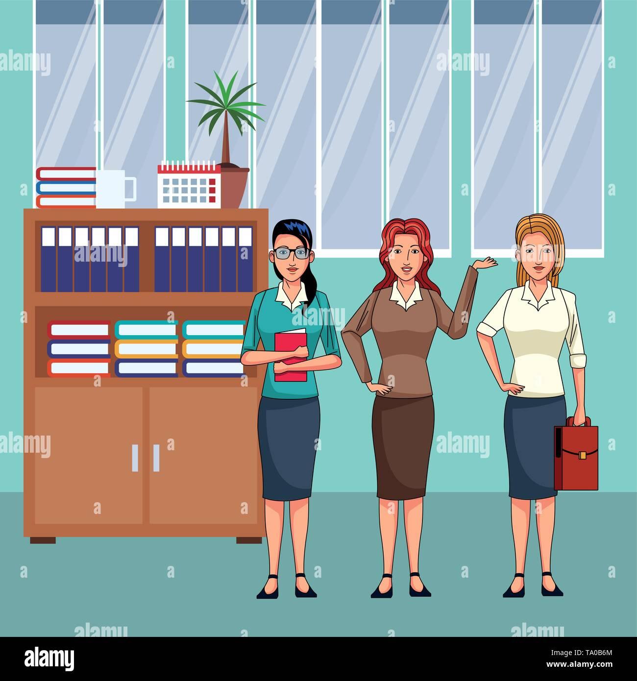 Geschäftsfrauen avatar cartoon Charakter Stockbild