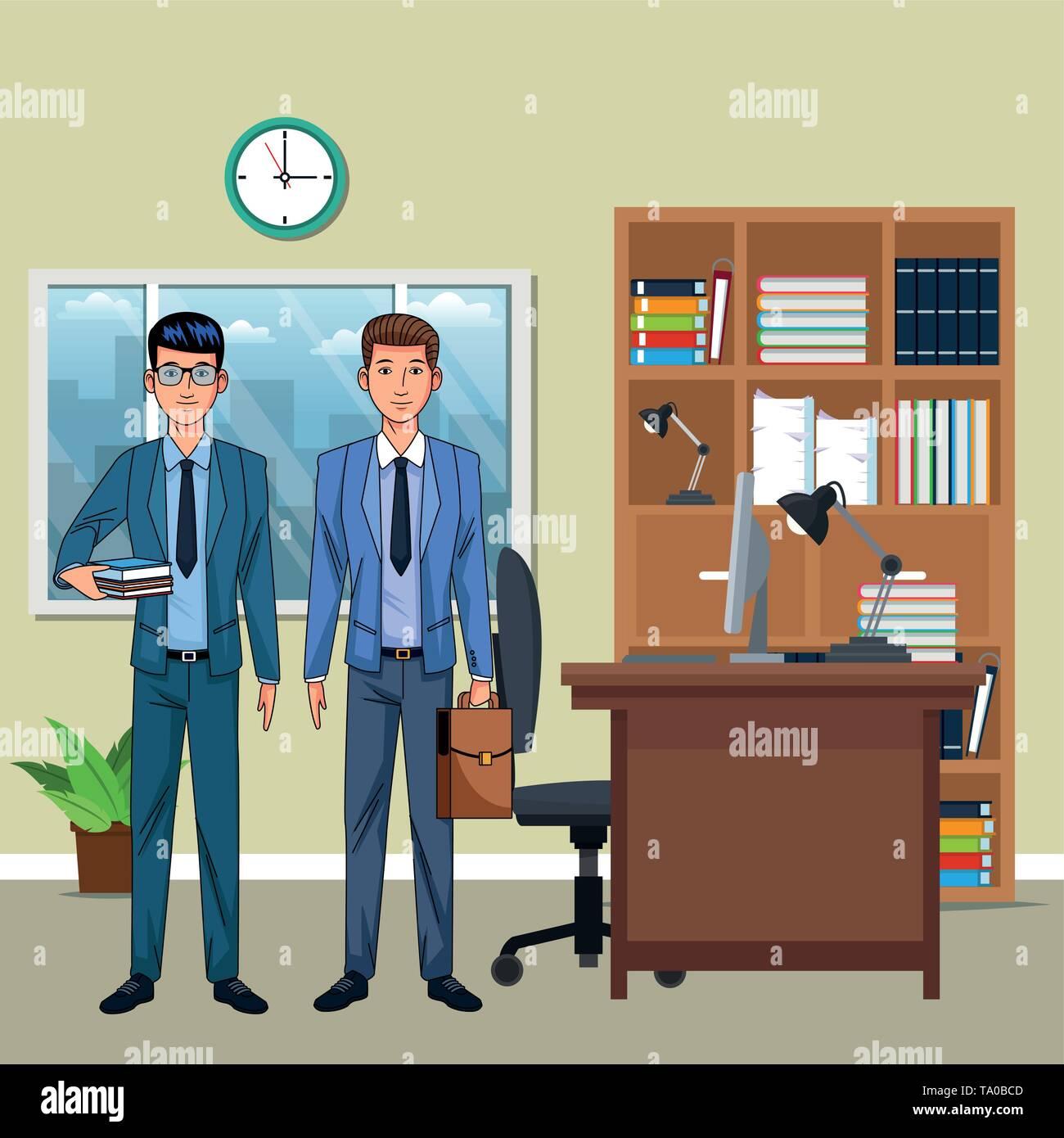 Unternehmer avatar cartoon Charakter Stockbild