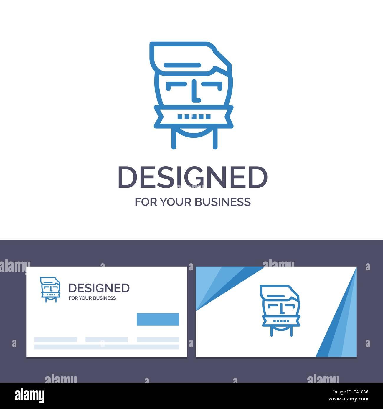 Creative Business Card und Logo Vorlage Geisel, Mund, Gegner, Geschlossen, Terrorismus Vector Illustration Stockbild