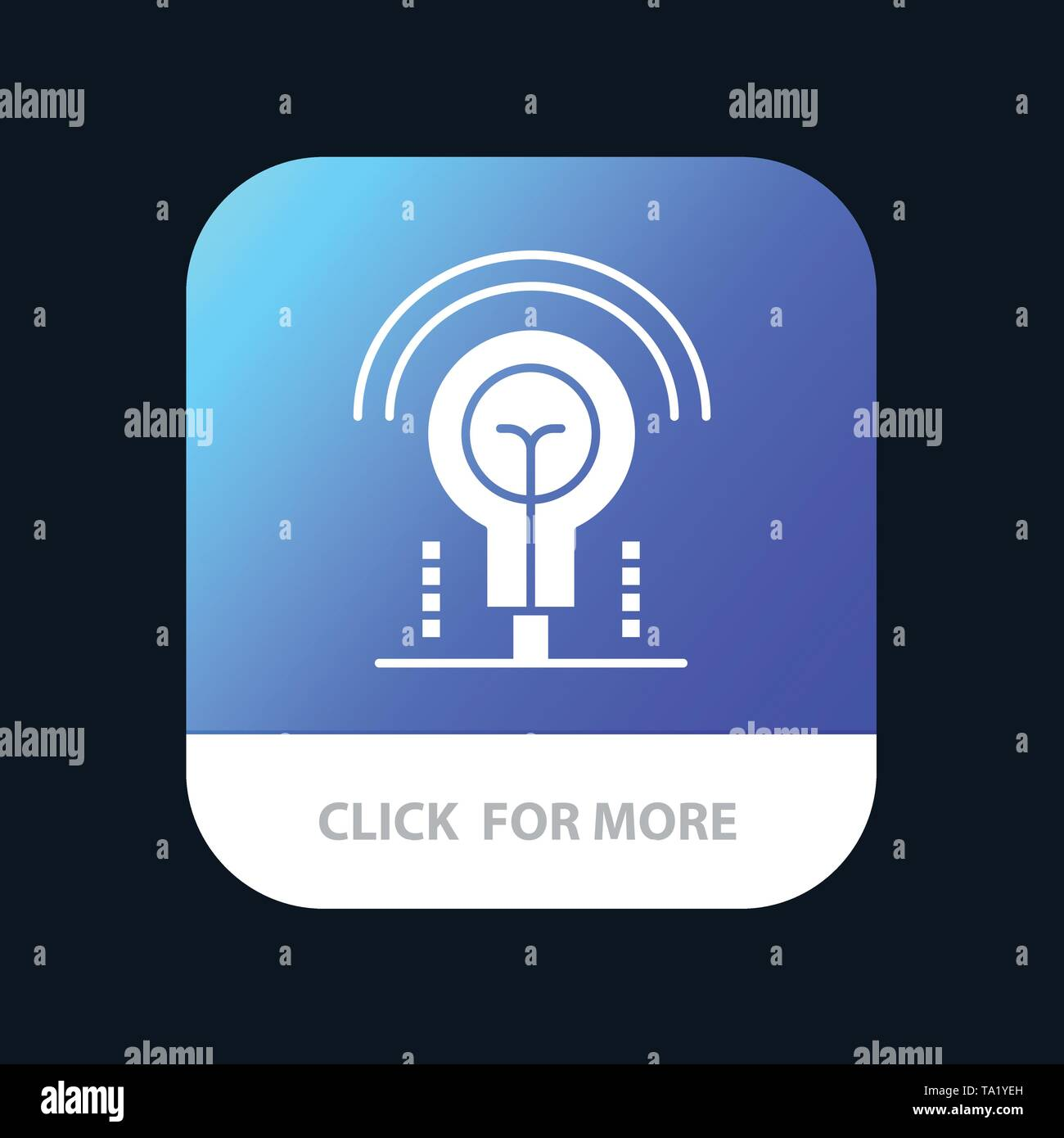 Glühlampe, Idee, Licht, Hotel Mobile App Icon Design Stockbild