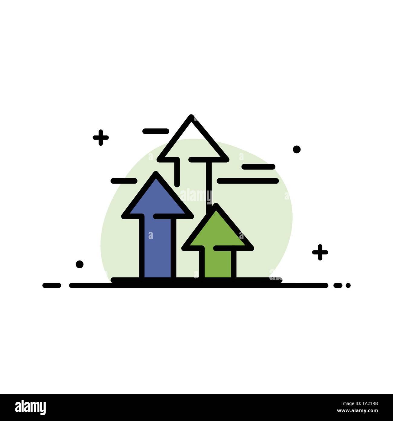 Pfeile, Break, Brechen, Vorwärts, Grenzen Business Flat Line gefüllt Symbol Vektor Banner Vorlage Stockbild