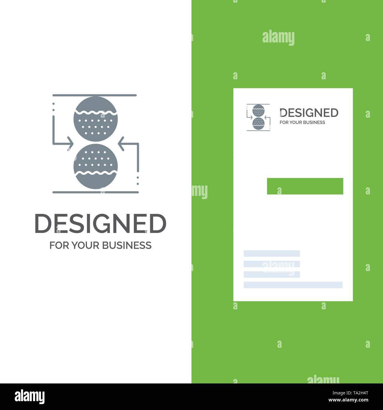 Konzentration, Kontrolle, effektive, Sand, grau Logo Design und Business Card Template Stockbild