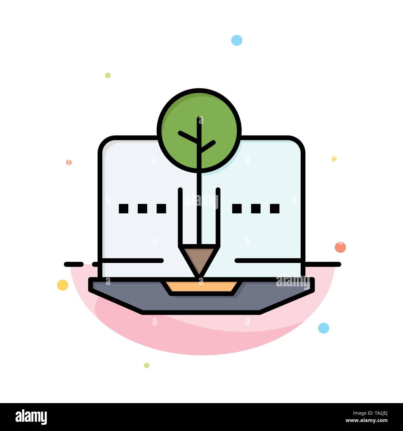 Organische, Inhalt, organische Inhalte, digitale Abstrakte flachen Farbe Symbol Vorlage Stockbild