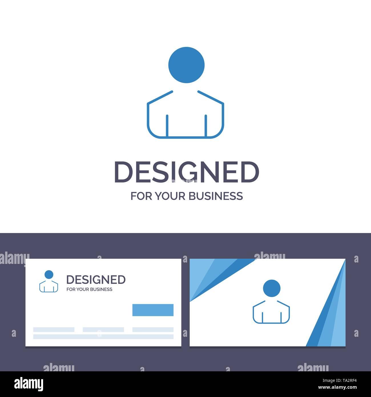 Creative Business Card und Logo Vorlage Männlich, Mann, Person, Vektor, Abbildung Stockbild