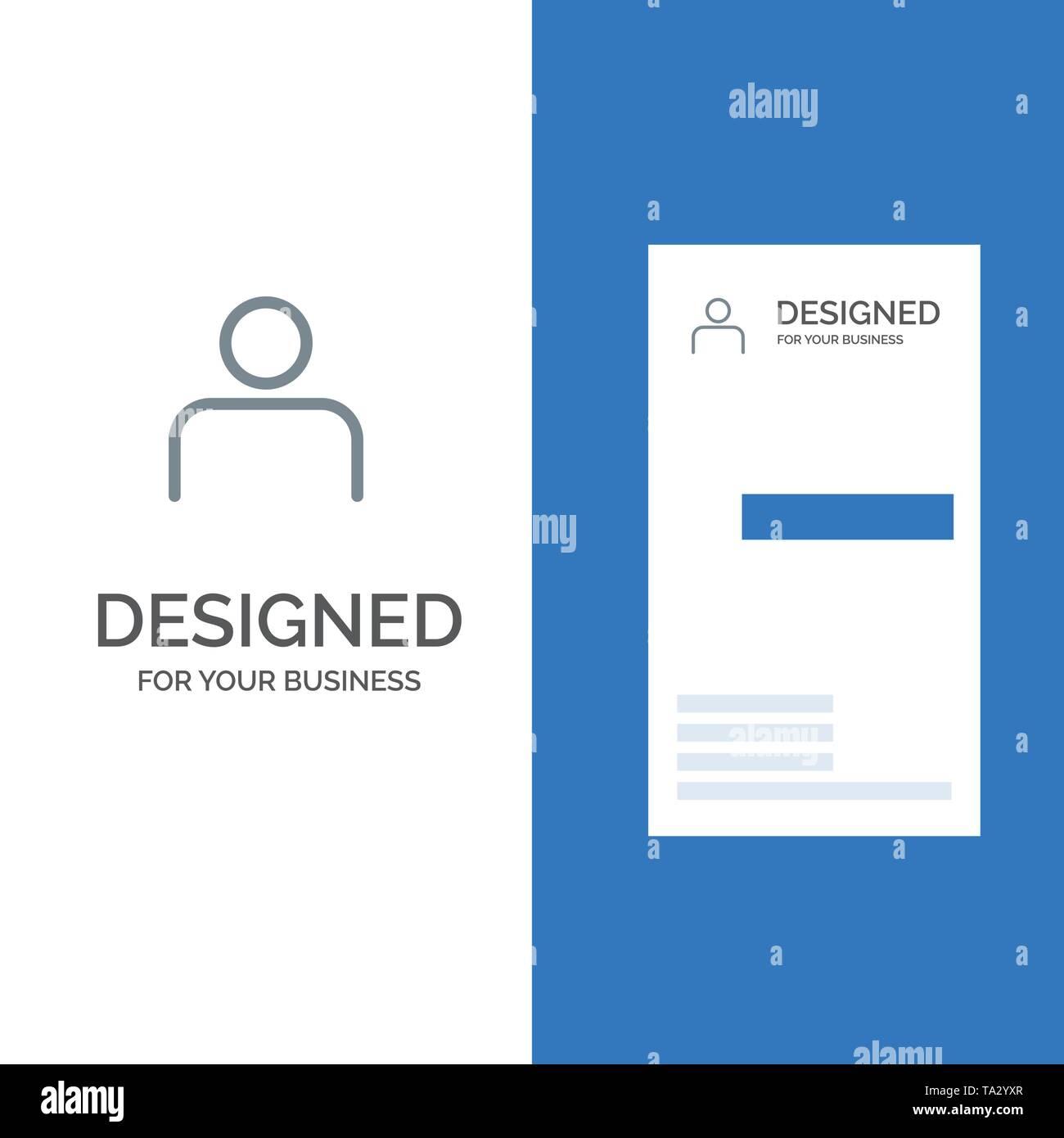 Instagram, Menschen, Profil, Sets, Benutzer Grau Logo Design und Business Card Template Stockbild
