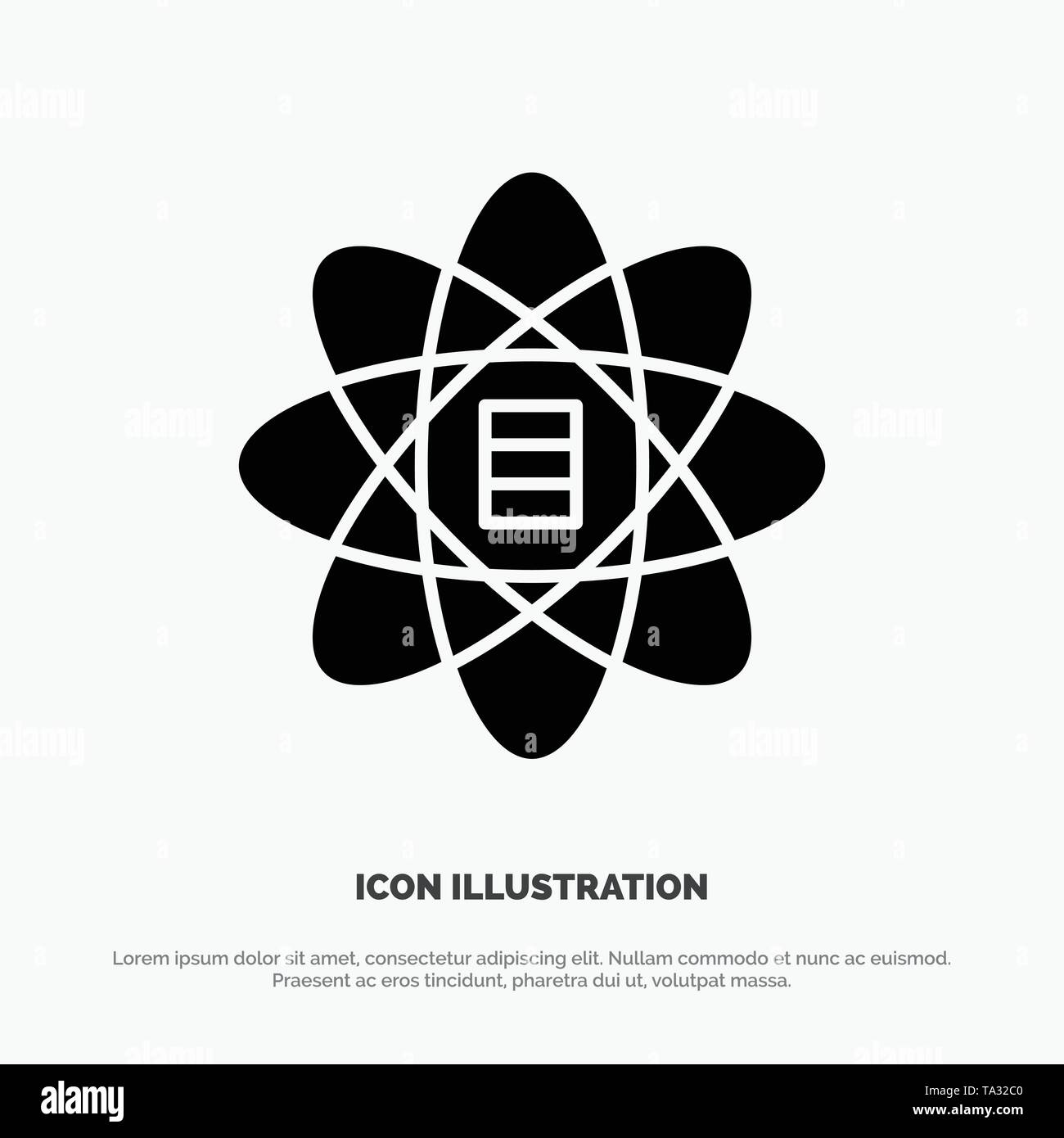 Daten, Wissenschaft, Daten Wissenschaft, Dollar, solide Glyphe Symbol Vektor Stockbild