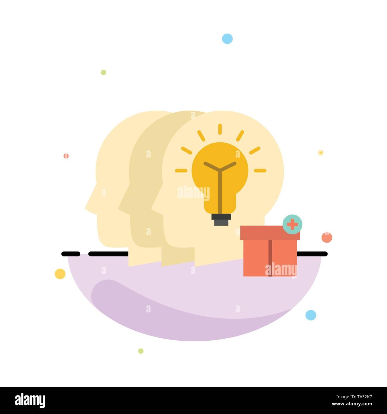 Idee, Teilen, Transfer, Personal Abstrakte flachen Farbe Symbol Vorlage Stockbild