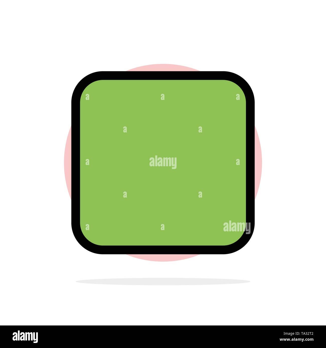 Box, Checkbox nicht markiert Abstrakt Kreis Hintergrund flachen Farbe Symbol Stockbild