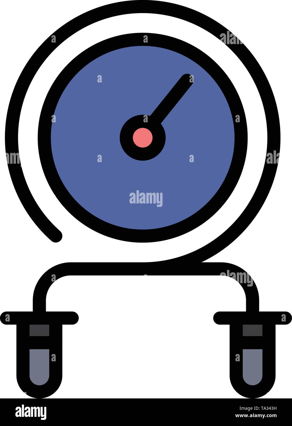 Schnelle, Fitness, Hit, Intensität, Training flach Farbe Symbol. Vektor icon banner Vorlage Stockbild