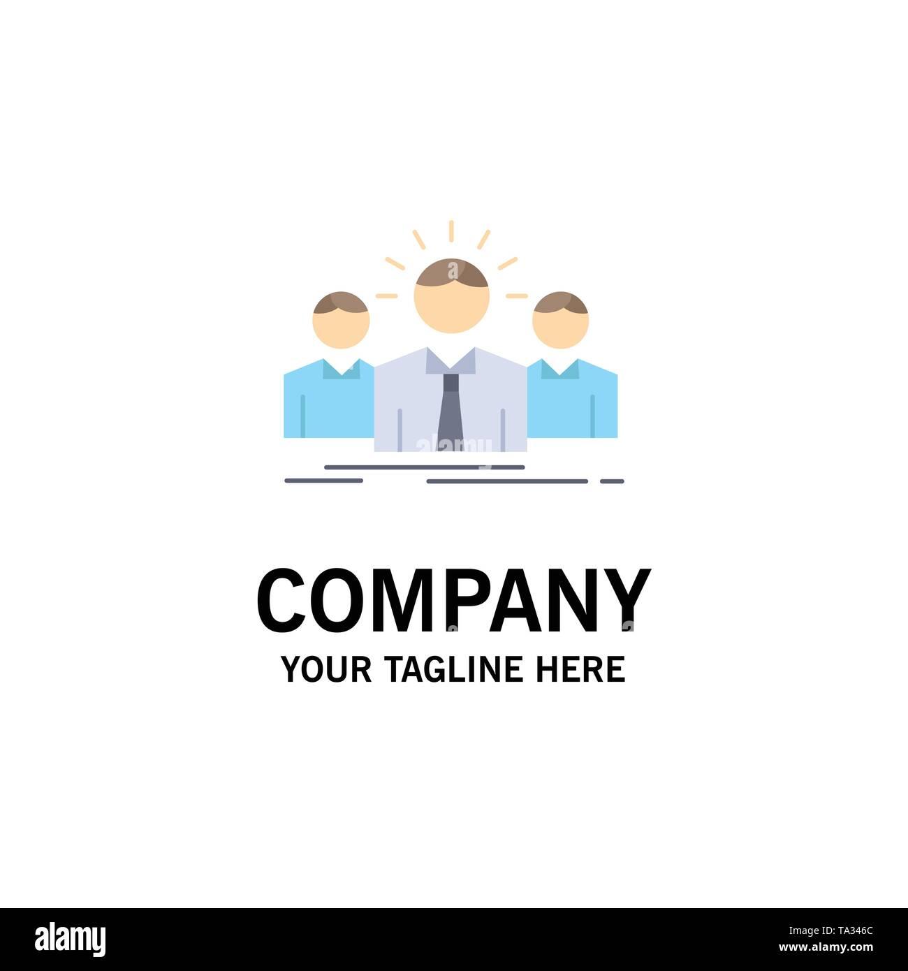 Business, Karriere, Mitarbeiter, Unternehmer, leader flachen Farbe Symbol Vektor Stockbild
