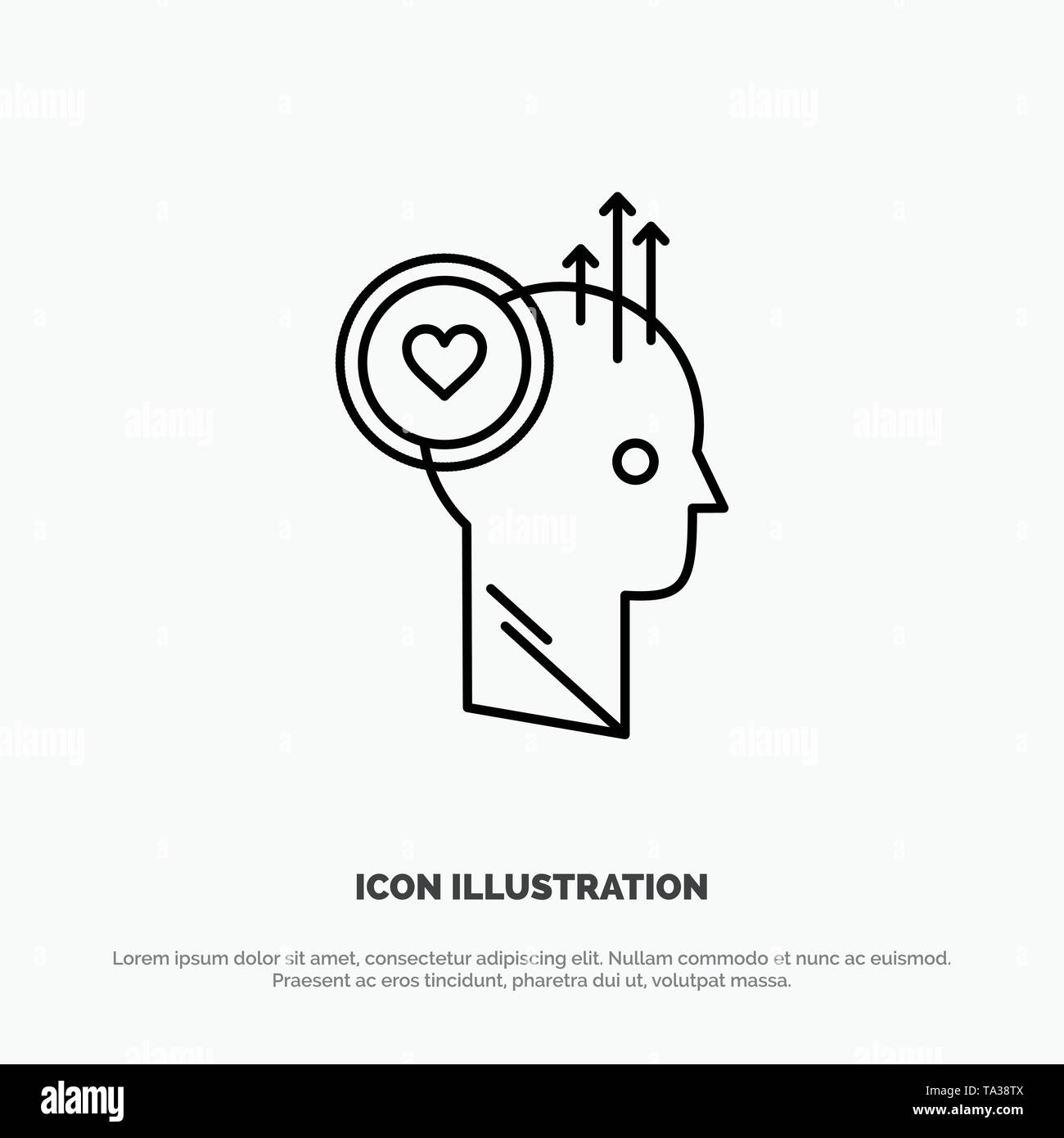 Benutzer, wie, Personal, Büro, Idee Symbol Leitung Vektor Stockbild