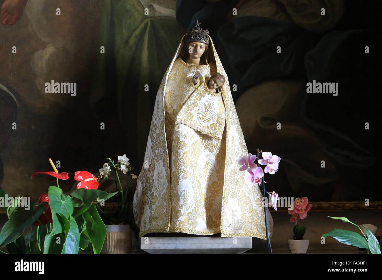 Notre Dame du Bon Conseil. Chapelle. Basilika Notre-Dame de Fourvière. Lyon. Unsere Liebe Frau vom Guten Rat. Kapelle. Stockbild