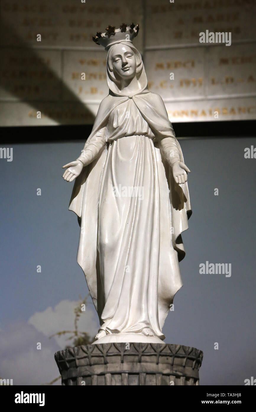 Notre Dame du Liban. Crypte. Basilika Notre-Dame de Fourvière. Lyon. Unsere Liebe Frau des Libanon. Basilika Notre-Dame de Fourvière. Lyon. Stockbild