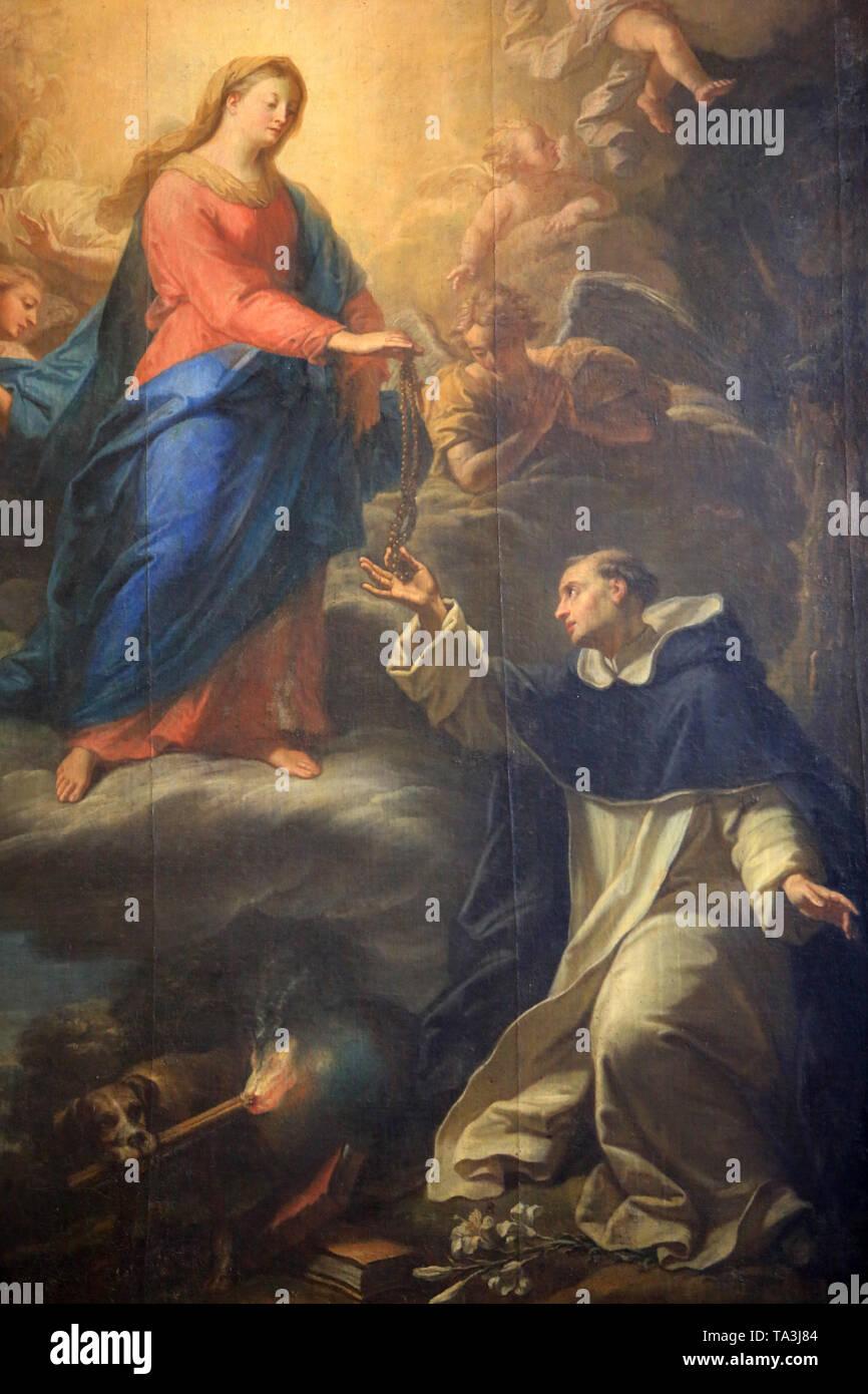 Don du Rosaire à Saint-Dominique. Cathédrale Saint-Jean-Baptiste-et-Saint-Etienne. Lyon. Lyon Kathedrale. Stockbild