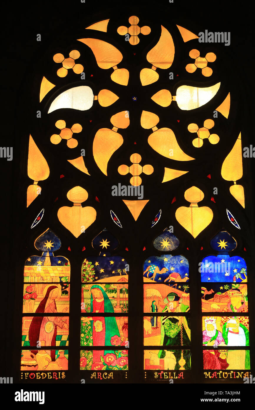 Eglise Saint-Georges de Lyon. Kirche von St. George. Lyon. Stockbild