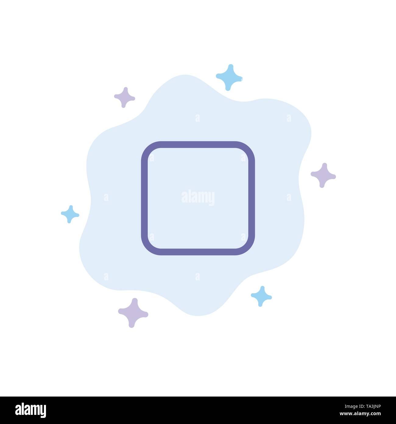 Box, Checkbox deaktiviert blaue Symbol auf Abstrakten Cloud Hintergrund Stockbild