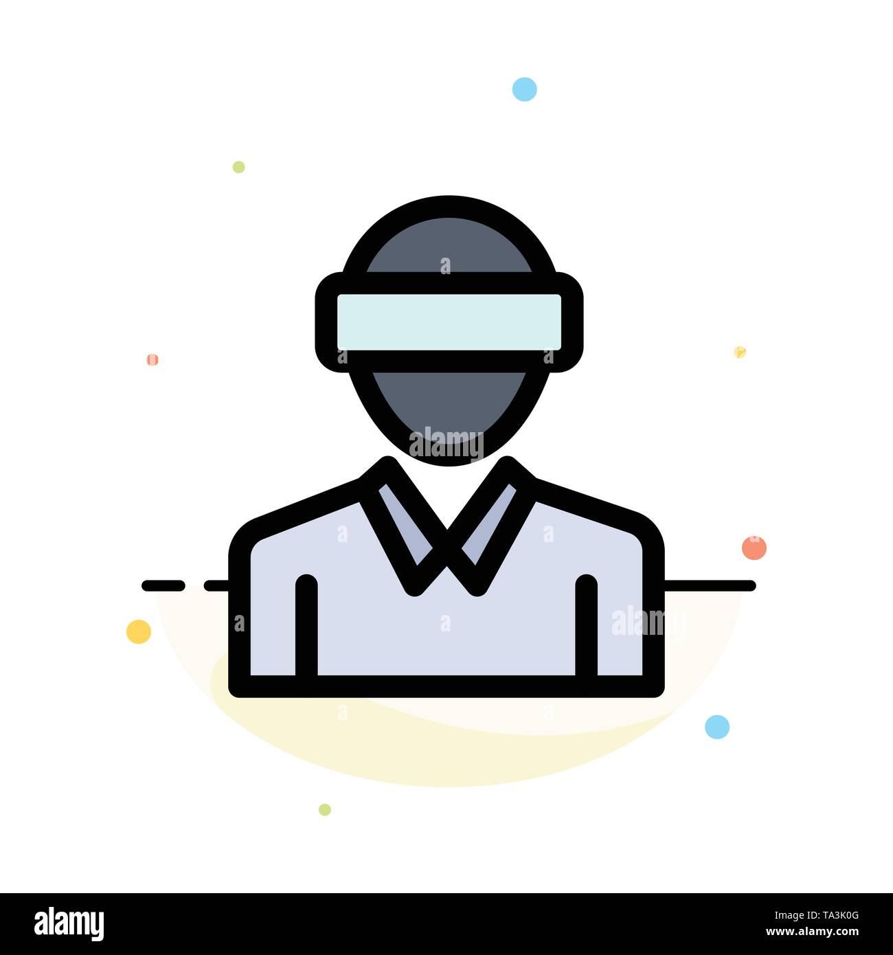 Gläser, Motion, Realität, Technik, man Abstrakte flachen Farbe Symbol Vorlage Stockbild