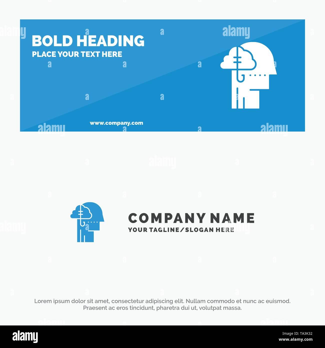 Kreditaufnahme Ideen, Sucht, Fangen, Gewohnheit, menschliche SOlid Symbol Website Banner und Business Logo Vorlage Stockbild