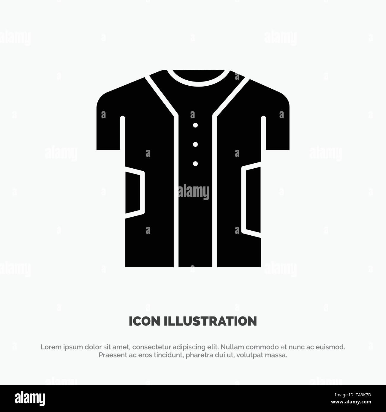 Tuch, Kleidung, digitale, elektronische, Stoff solide Glyphe Symbol Vektor Stockbild