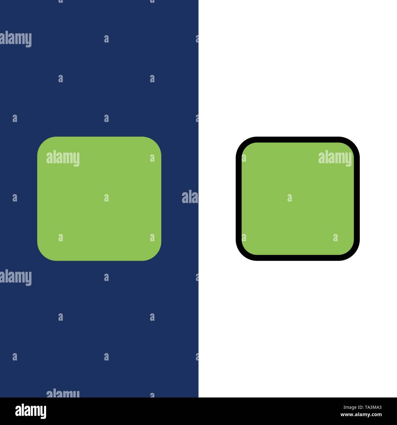 Box, Checkbox deaktiviert Symbole. Flach und Online ausgefüllt Icon Set Vektor blauem Hintergrund Stockbild