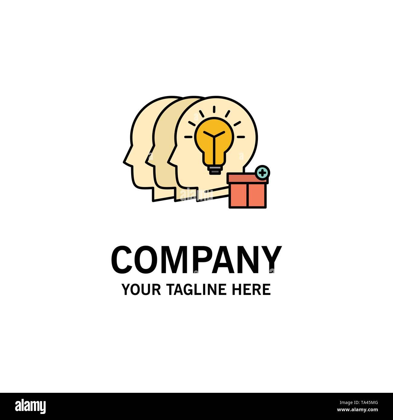 Idee, Teilen, Transfer, Personal Business Logo Vorlage. Flachen Farbe Stockbild
