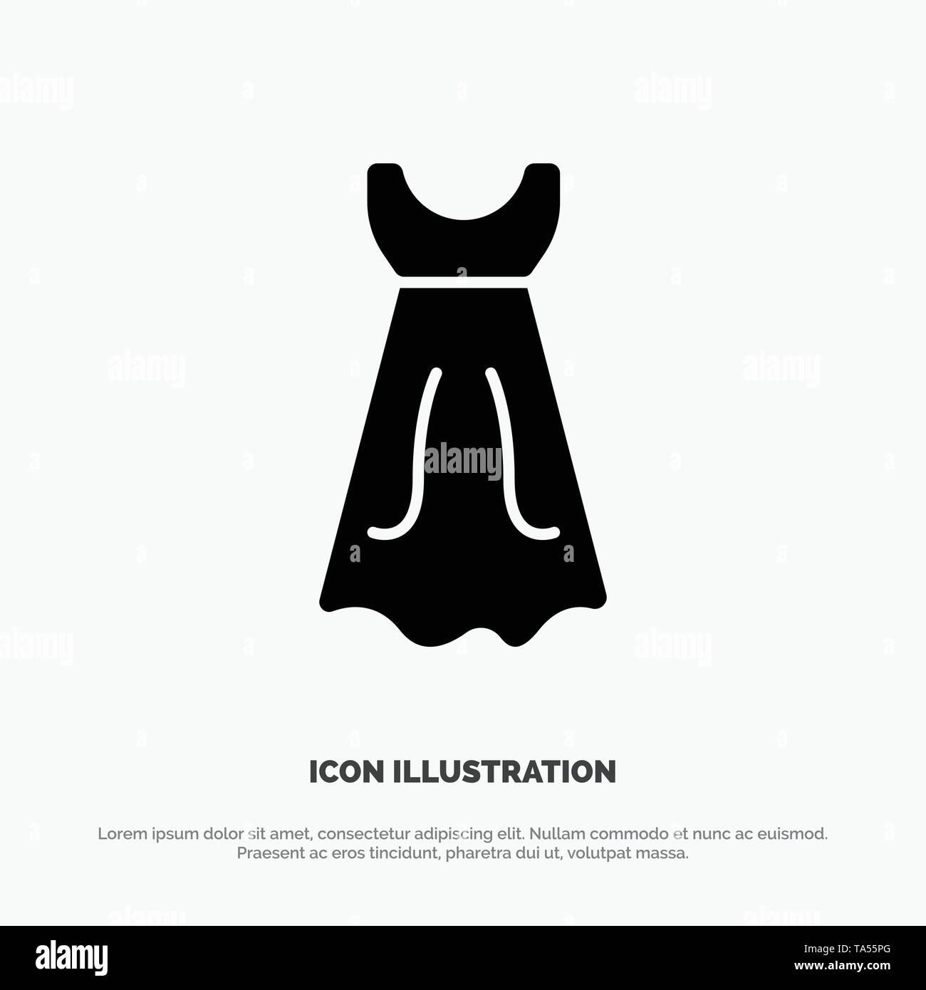 Kleid Madchen Hochzeit Feste Schwarze Glyph Icon Stock Vektorgrafik Alamy