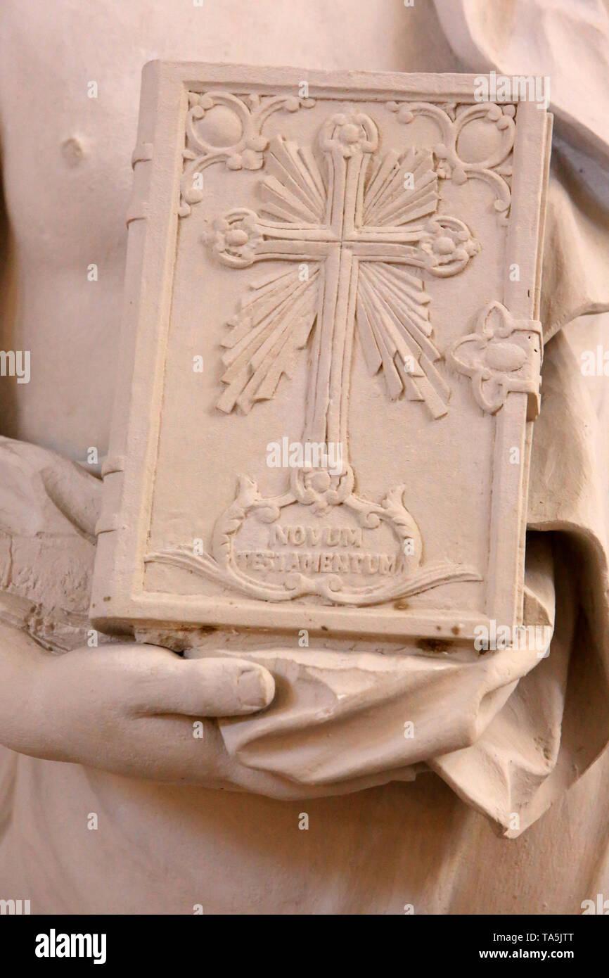 Bibel. Eglise Saint-Bruno-les-Chartreux. Lyon. Bibel. St. Bruno's Kirche. Lyon. Stockbild