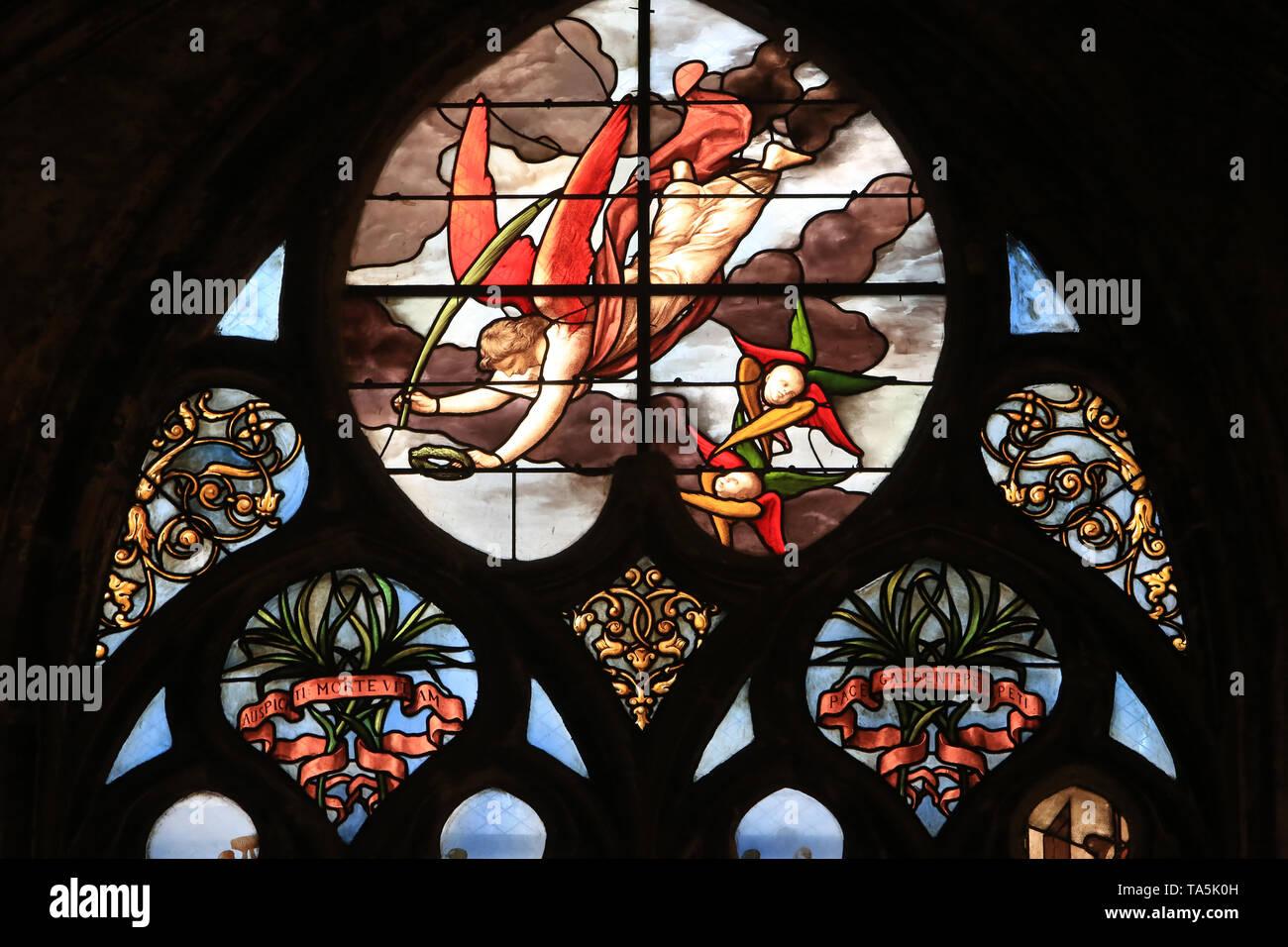 Eglise Saint-Nizier de Lyon. / Kirche Saint-Nizier. Lyon. Stockbild