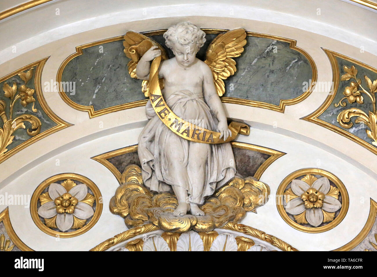 Ave Maria. Ange. Eglise Saint-Bruno-les-Chartreux. Lyon. Ave Maria. Engel. St. Bruno Les Chartreux's Kirche. Lyon. Stockbild