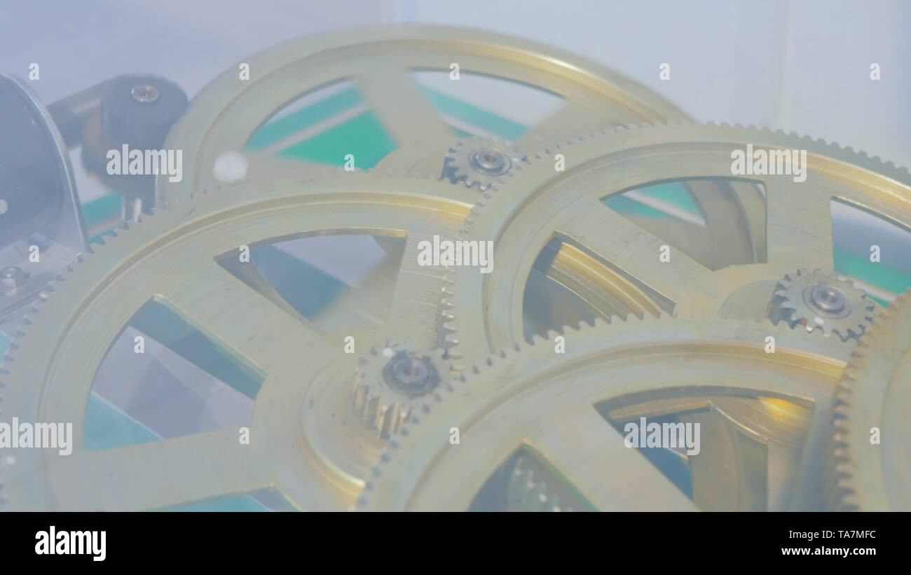 Zahnräder system Rotation Stockbild