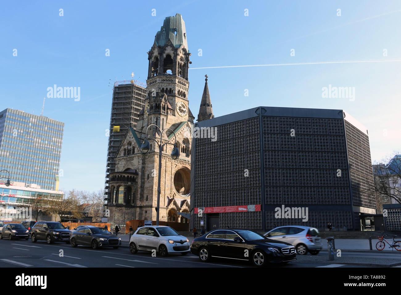 Kaiser-Wilhelm-Gedächt-Berlin ist heute ein sehr cool und inspirierende Stadt. Seine Mischung aus Geschichte, Kunst, Ausdruck, Kreativität und Modernität. Stockbild