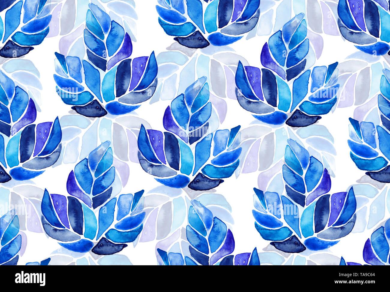 fd9d95192b8474 Nahtlose aquarell Muster Hintergrund Ahornblätter auf weißen, endlosen  künstlerischen textile ornament Botanische Illustration in Boho