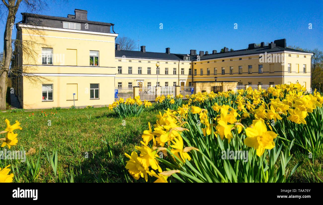 Lapinlahti Krankenhaus Helsinki Finnland gebaut 1841 für psychiatrische Betreuung in Finnland. Der Architekt war Carl Ludvig Engel. Stockbild