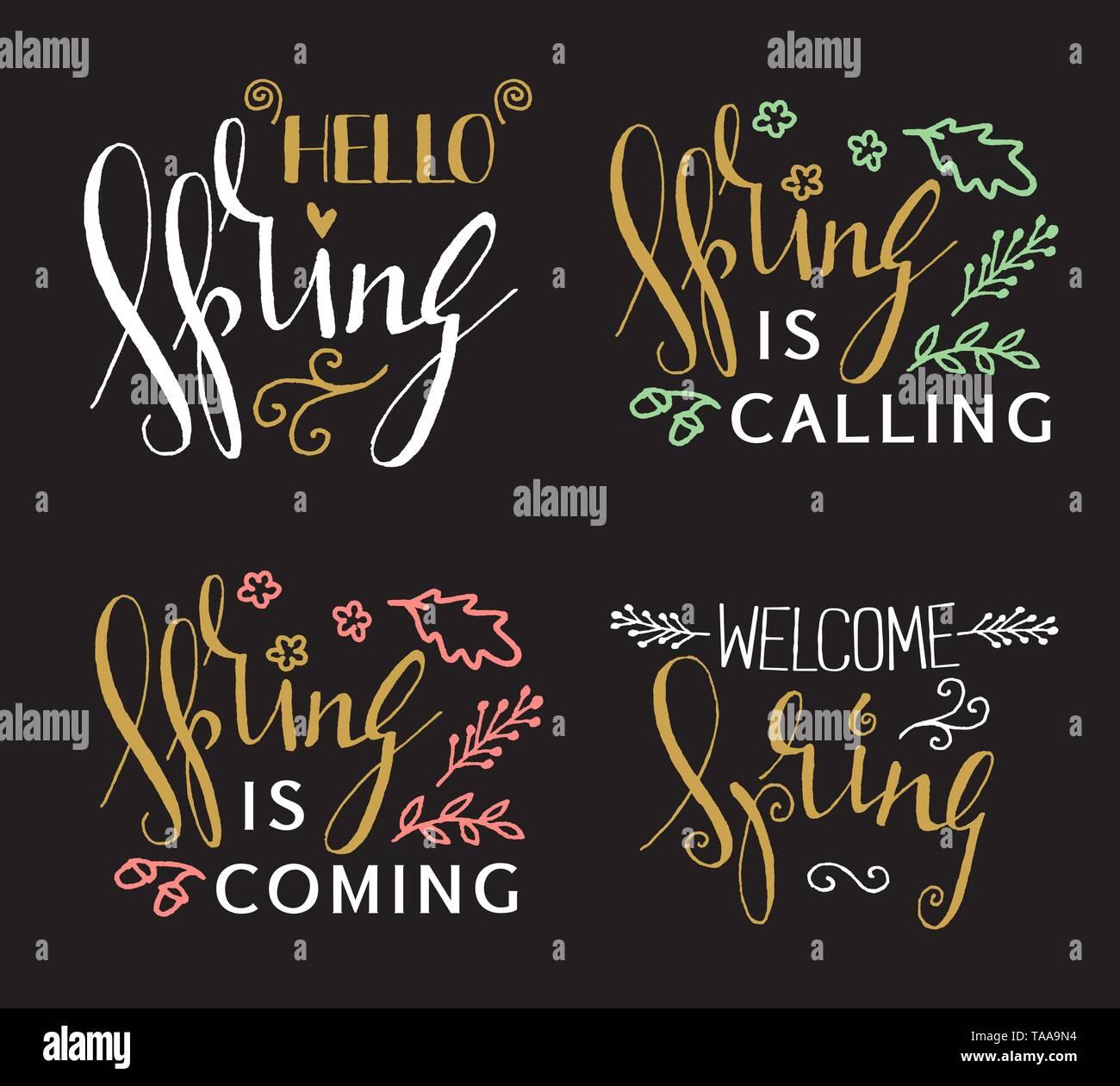 Handschriftliche kalligrafische Feder Schrift auf schwarzen Hintergrund. Inspiration dekorative Grafik Design Element für Banner, Grußkarte, Postkarte, Stockbild