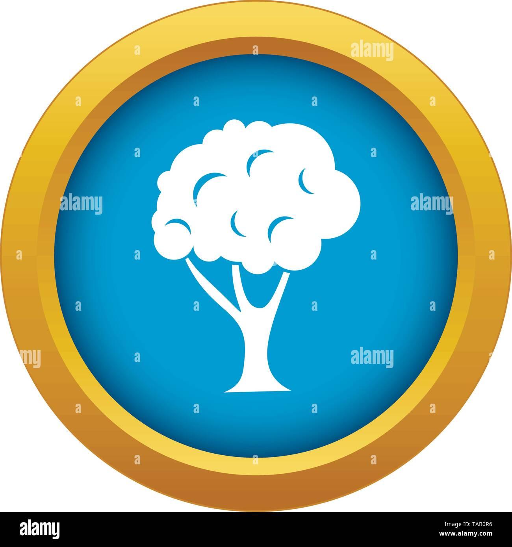Baum Symbol blau Vector isoliert Stockbild