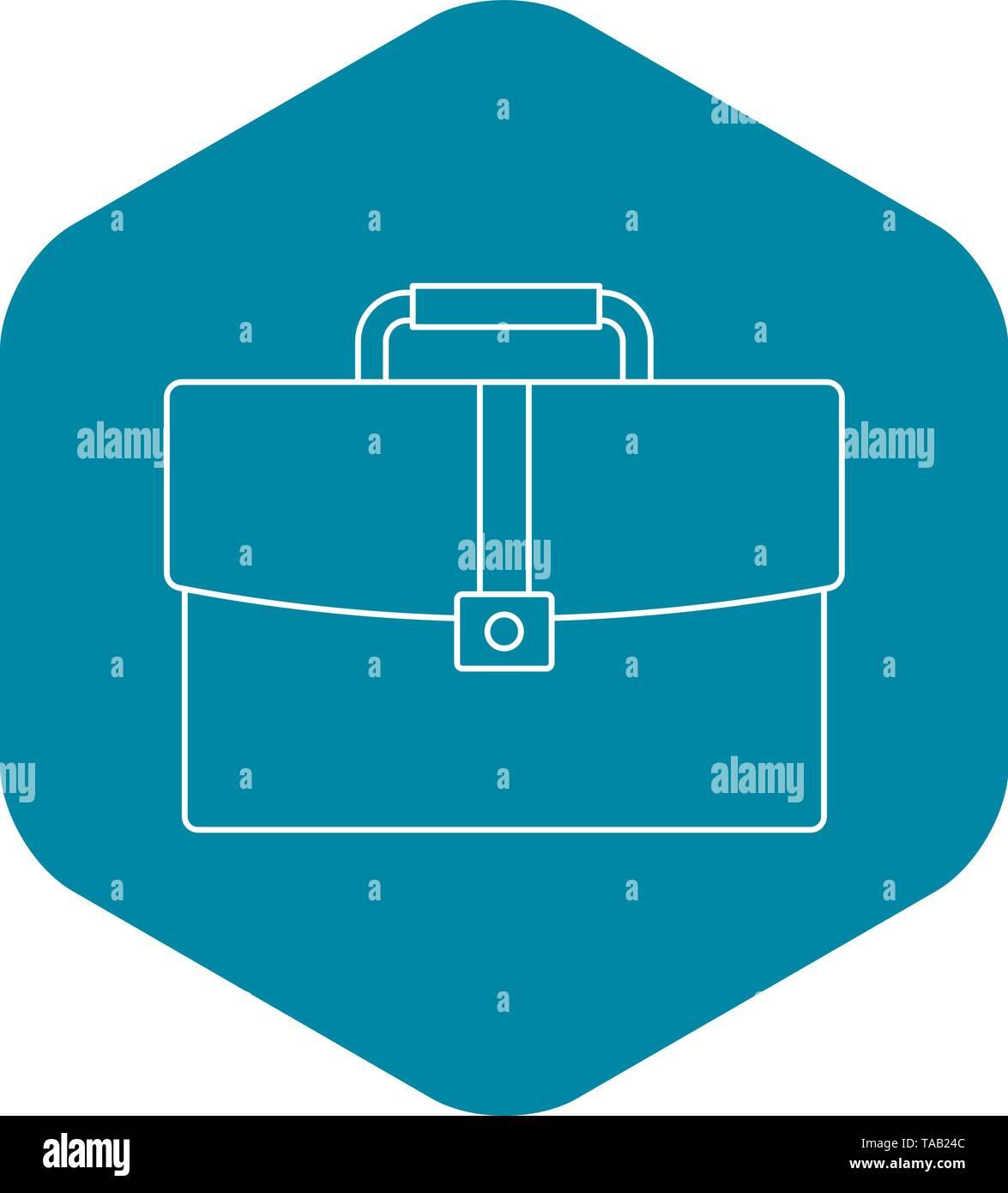 Aktenkoffer-Symbol, Umriss-Stil Stockbild