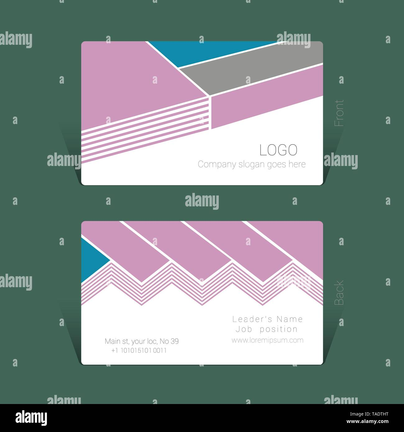 Business Card Design vorlage, Vector Illustration Konzept Stockbild