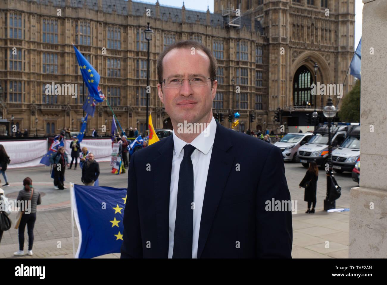 Matthew Elliott ist ein britischer politischer Stratege und Lobbyist in mehreren erfolgreichen Volksabstimmung Kampagnen, einschließlich der Brexit Kampagne beteiligt. Stockbild