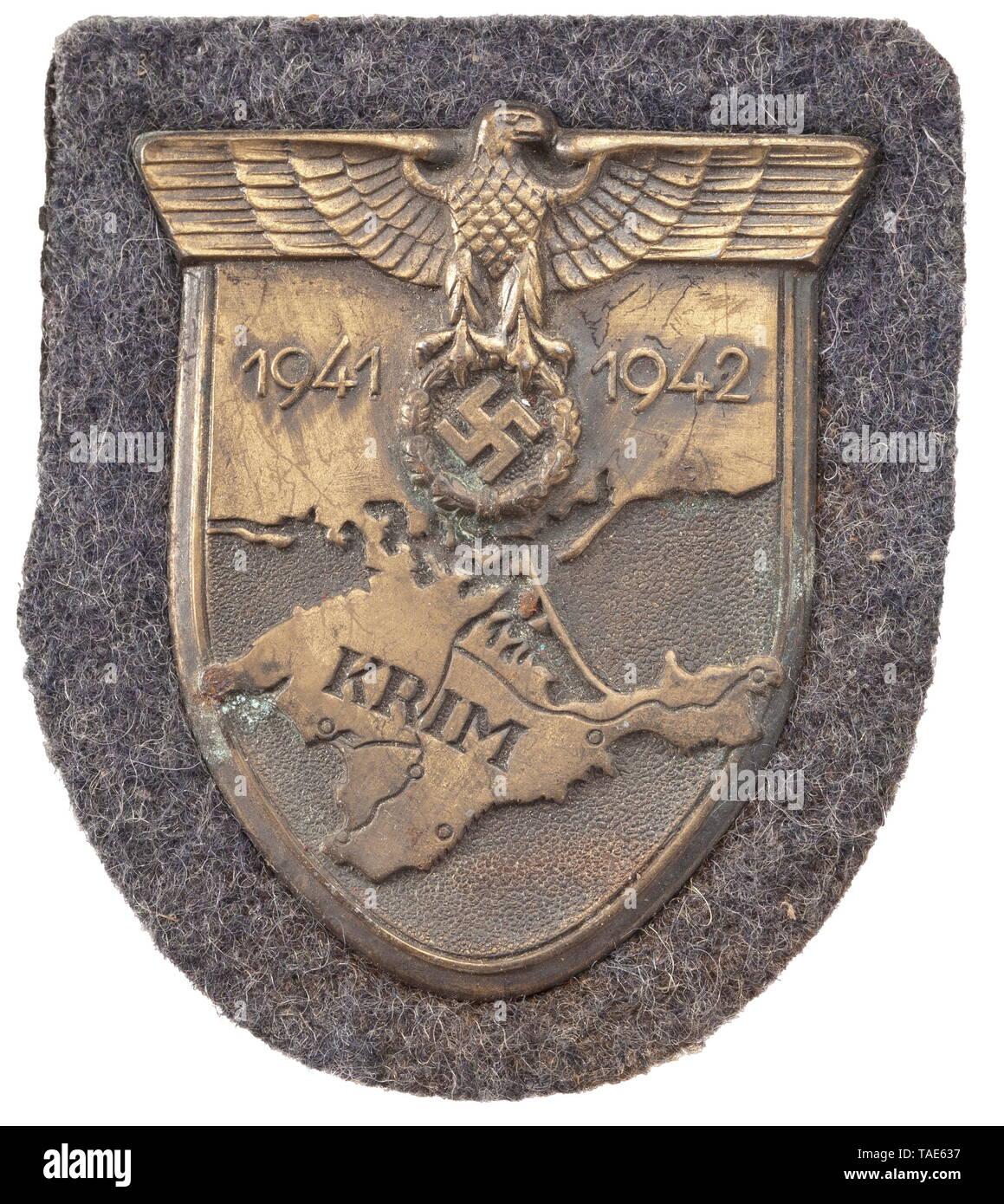 Ein Krim Schild für Luftwaffe Mitglieder historischen, historische, 20. Jahrhundert, Editorial-Use - Nur Stockbild