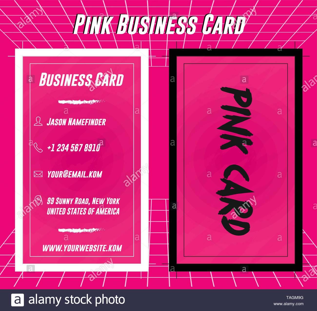 Kreative Rosa Visitenkarte Drucken Template Design Vektor