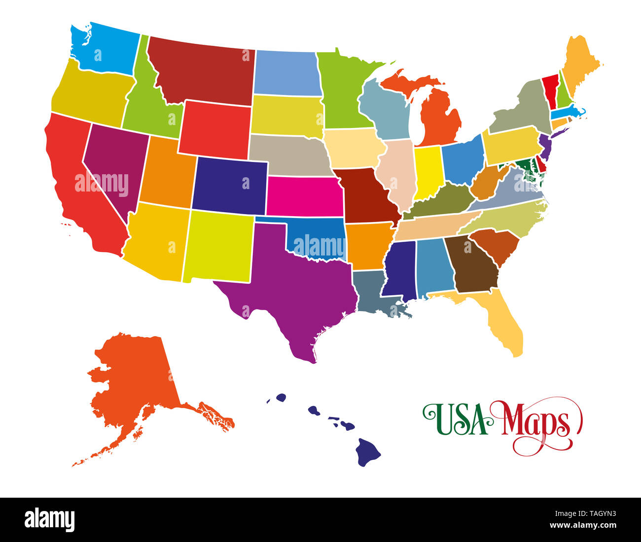 Politische Landkarte Von Usa Stockfotos Und Bilder Kaufen Alamy
