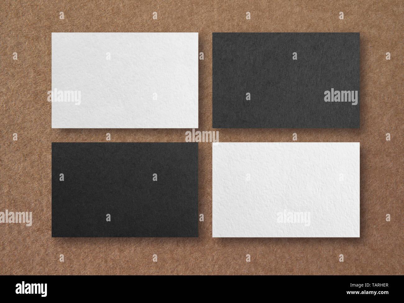 Mockup Von Visitenkarten Für Branding Identität Vorlage