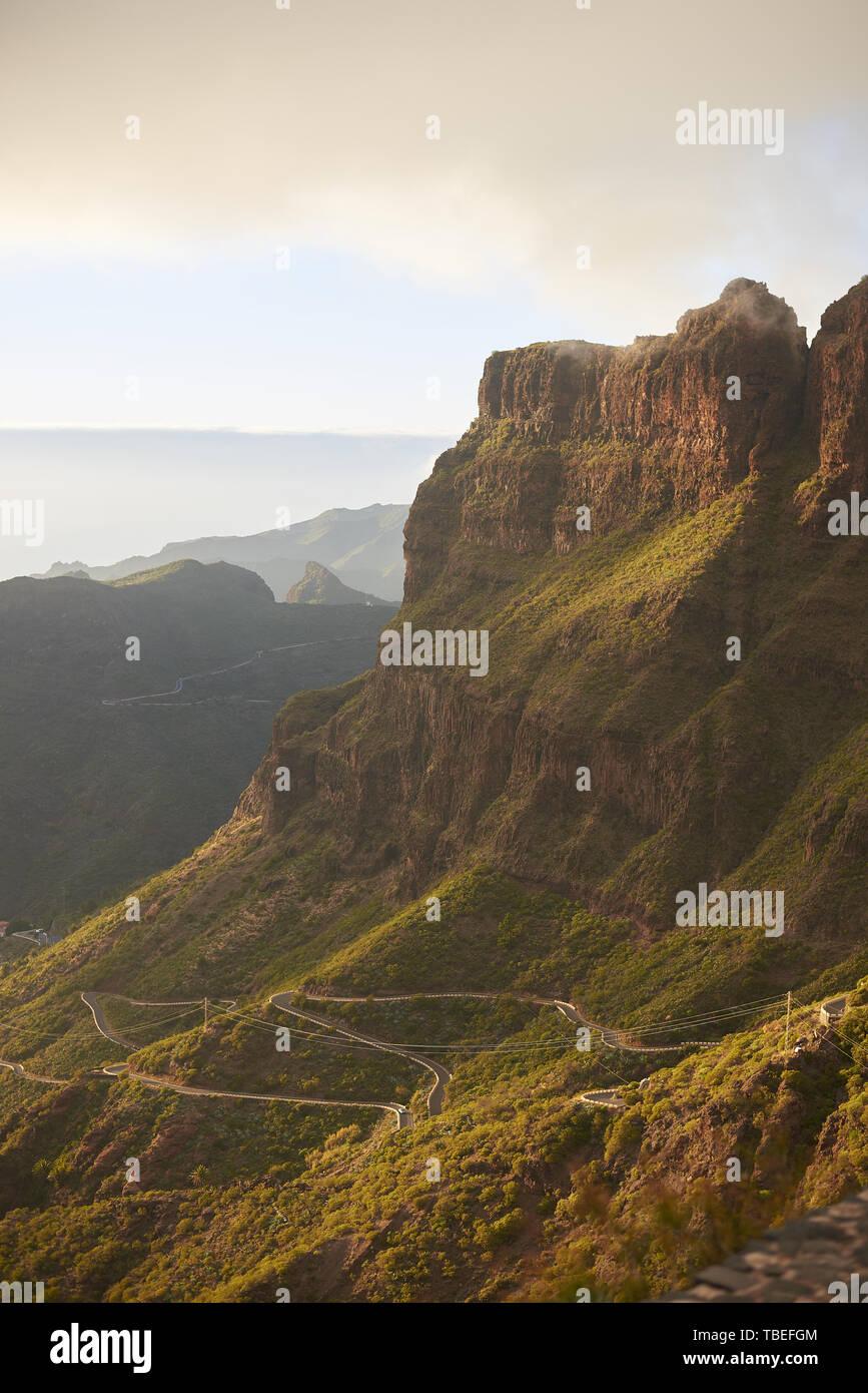 Den Berg Macizo de Teno in Teneriffa, Kanarische Inseln Stockbild