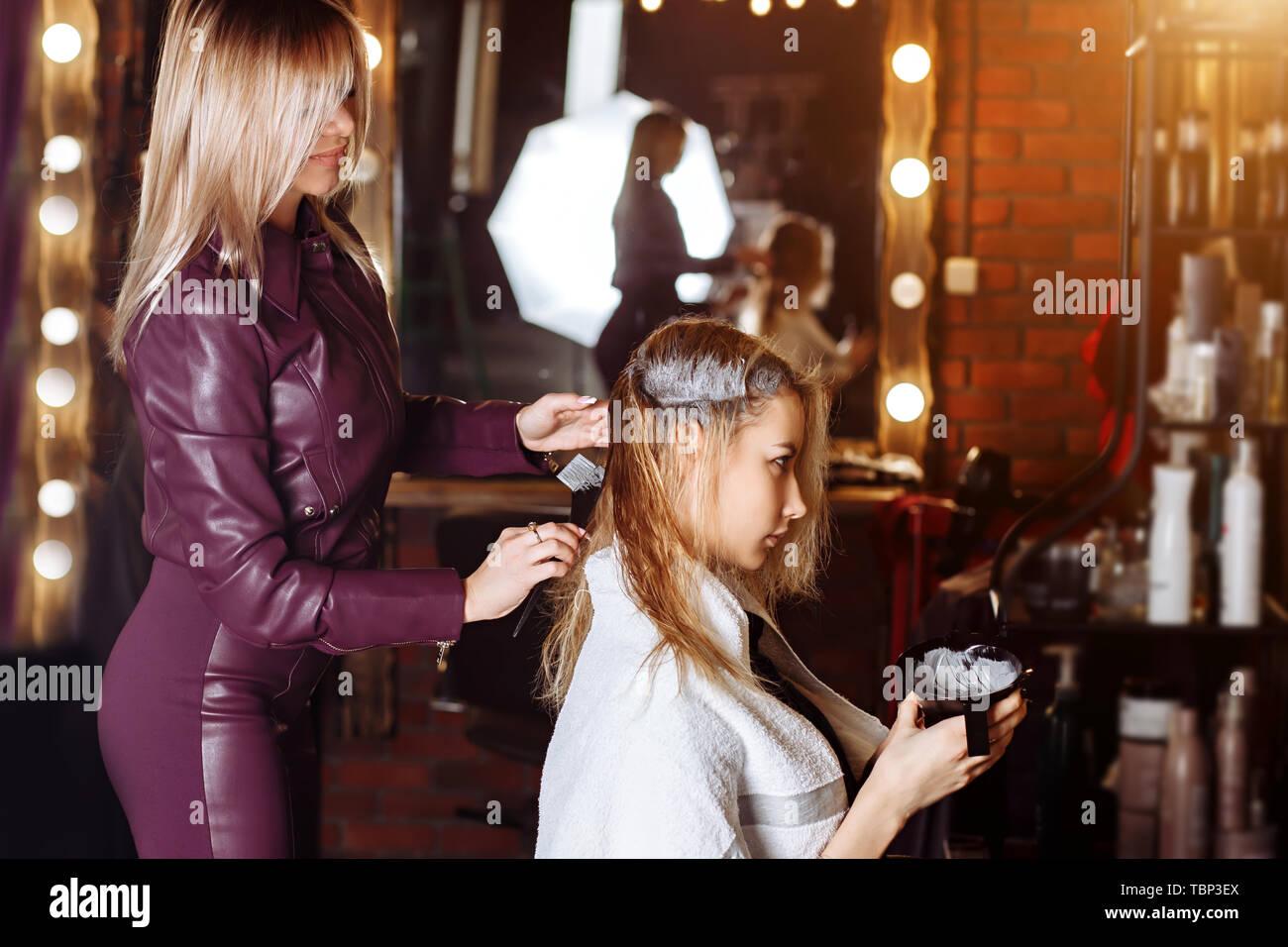 Friseurdienstleistungen Stockfotos Friseurdienstleistungen Bilder