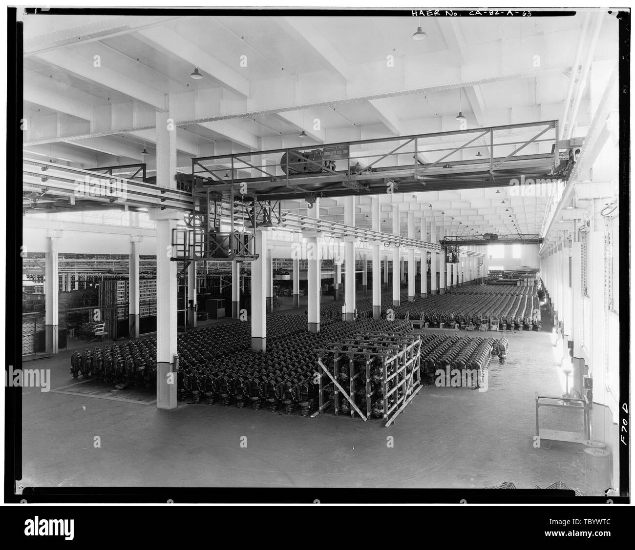 Neg. Nr. F70D, Apr 13, 1930, INTERIORWAREHOUSE, 1. Stock MOTOR LAGERUNG Ford Motor Company Long Beach Montagewerk, Assembly Building, 700 Henry Ford Avenue, Long Beach, Los Angeles County, CA Stockbild
